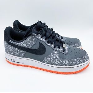 NIKE Air Force 1 wolf gray sneakers, men's 11.